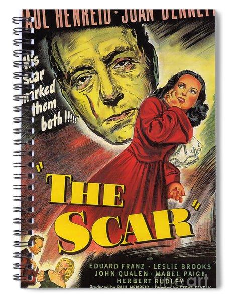 Film Noir Poster  The Scar Spiral Notebook