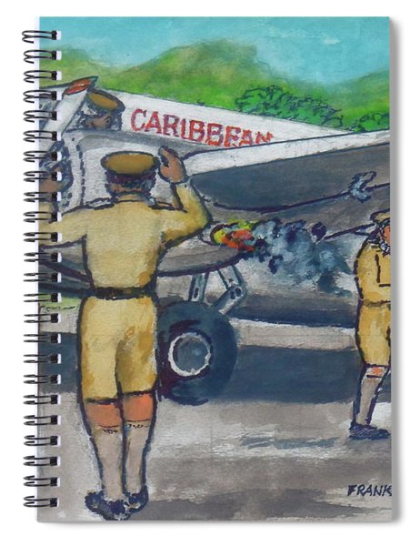 Final Flight Owen Roberts And Robert Wilson From Palisador Airport Kingston Jamaica Crash On Takeo Spiral Notebook