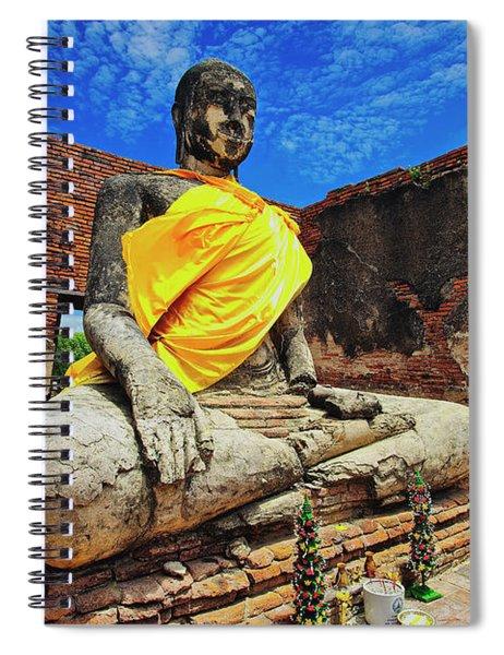 Finding, Not Seeking At Wat Worachetha Ram In Ayutthaya, Thailand Spiral Notebook