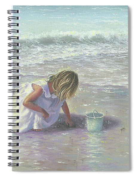 Finding Sea Glass Spiral Notebook