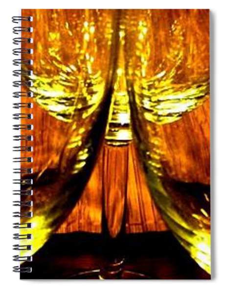 Fine Wine And Dine 3 Spiral Notebook