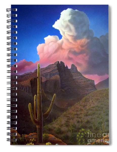 Finger Rock Sunset Spiral Notebook
