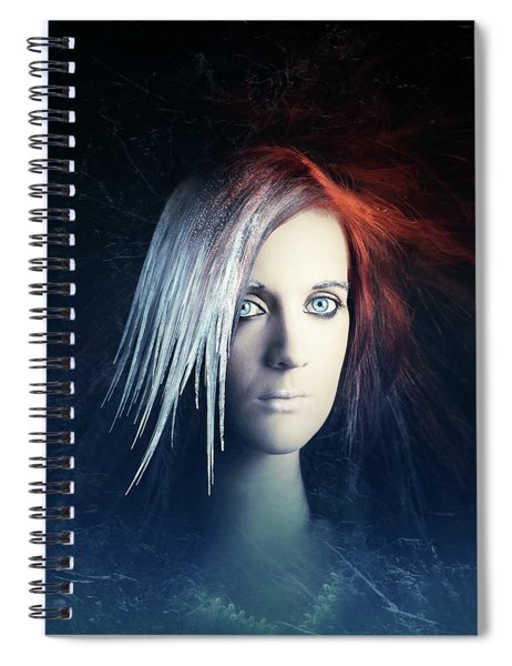 Fire And Ice Portrait Spiral Notebook