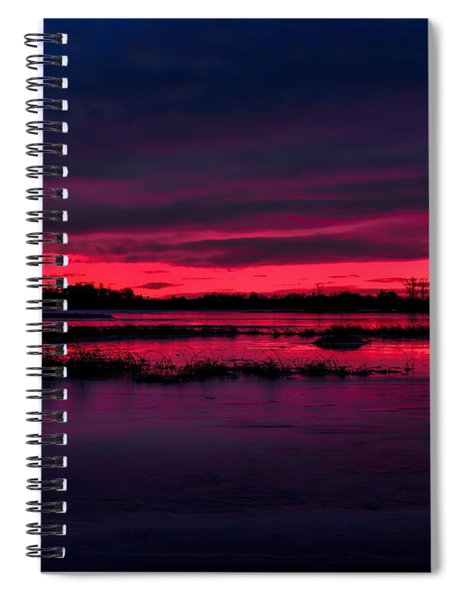 Fire And Ice Sunrise Spiral Notebook