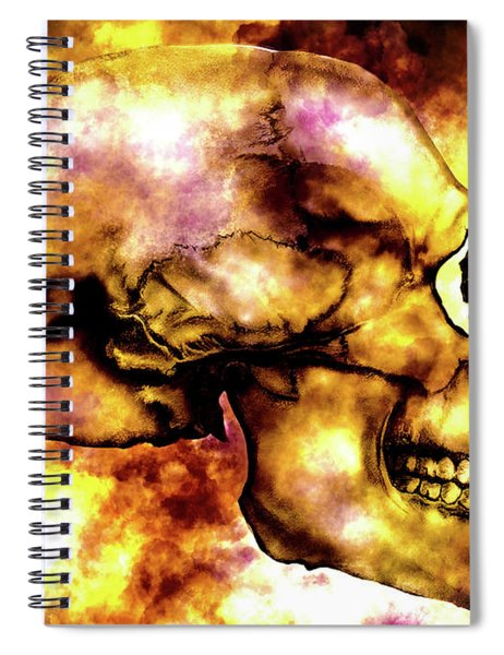 Fire And Skull Spiral Notebook