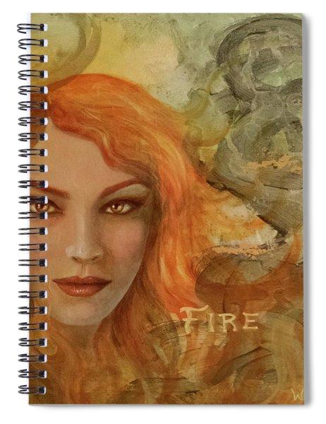 Fire Spiral Notebook