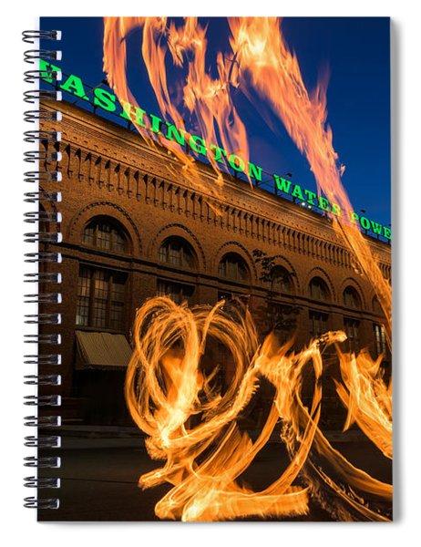 Fire Dancers In Spokane W A Spiral Notebook