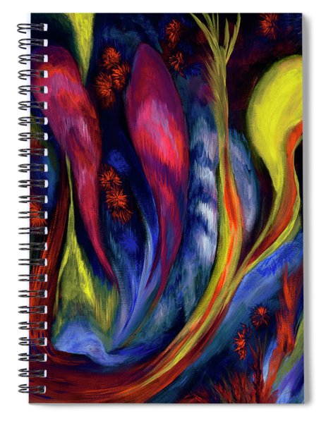 Fire Flowers Spiral Notebook