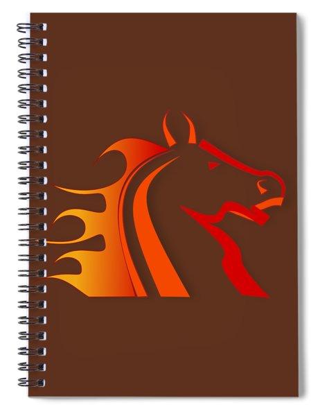 Fire Horse Spiral Notebook