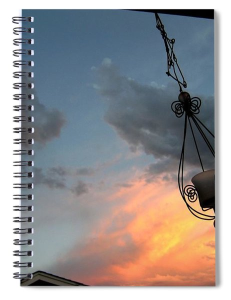 Fire In The Clouds Spiral Notebook