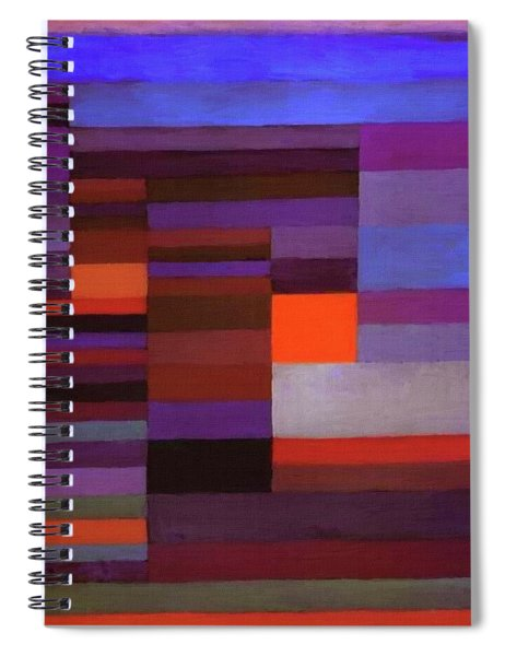Fire In The Evening Spiral Notebook