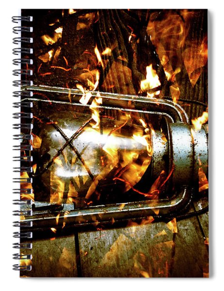 Fire In The Hen House Spiral Notebook