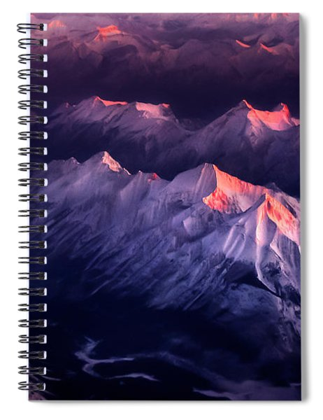 Fire In Ice Spiral Notebook