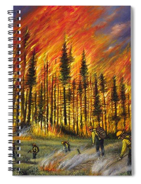 Fire Line 1 Spiral Notebook