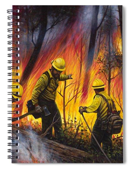 Fire Line 2 Spiral Notebook