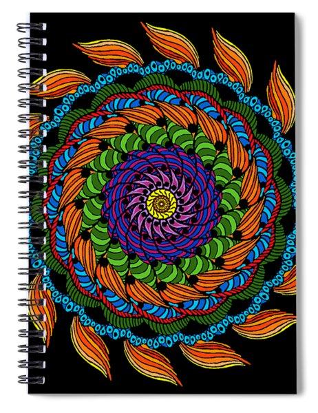 Fire Mandala Spiral Notebook