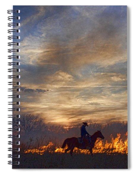 Fire Up The Sunset Spiral Notebook
