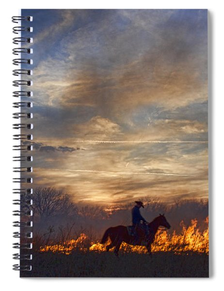 Fire Up The Sunset Spiral Notebook