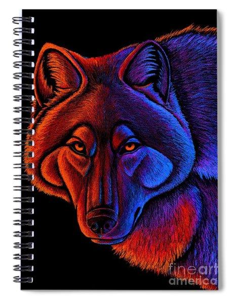 Fire Wolf Spiral Notebook
