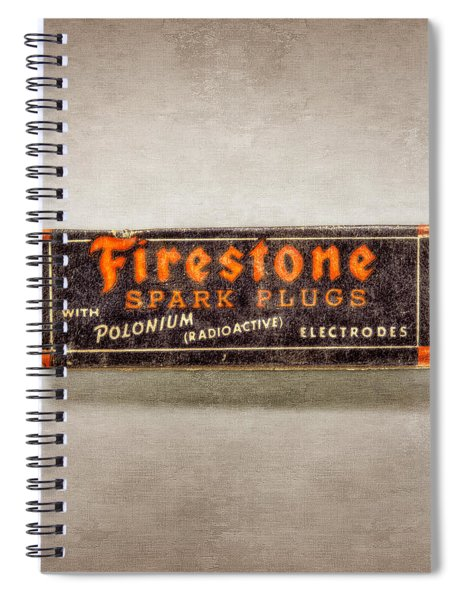 Firestone Spark Plugs Box Spiral Notebook