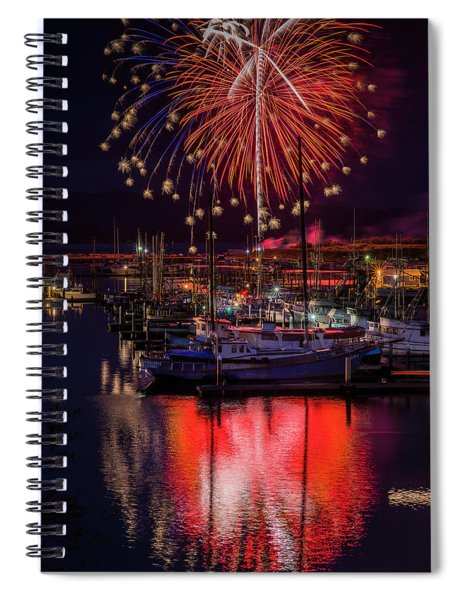 Fireworks At The Docks Spiral Notebook