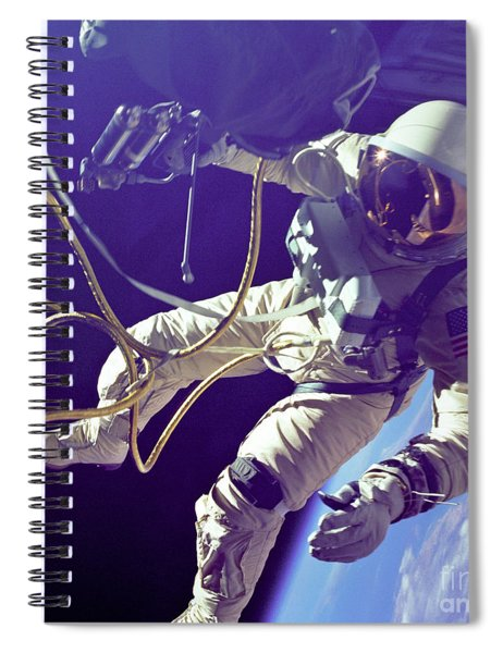 First American Walking In Space, Edward Spiral Notebook