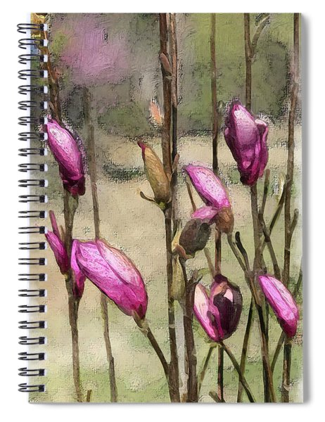 Spiral Notebook featuring the digital art First Blush by Gina Harrison