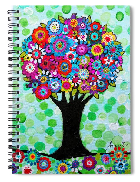First Day Of Spring Spiral Notebook