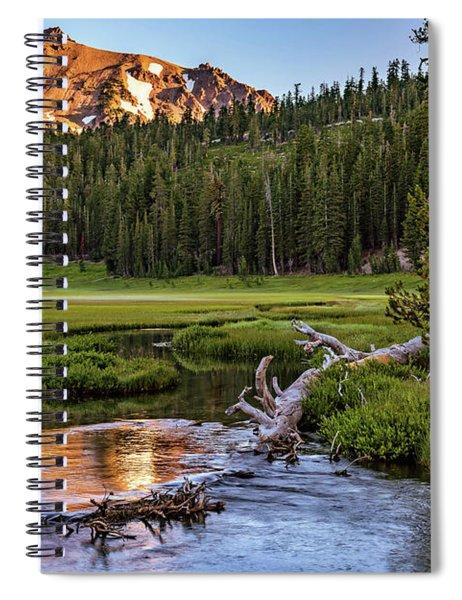 First Light On Lassen From Upper Meadow Spiral Notebook