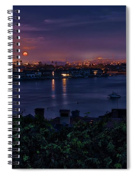First Moonset Of 2018 Spiral Notebook