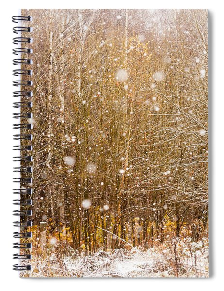 First Snow. Snow Flakes I Spiral Notebook