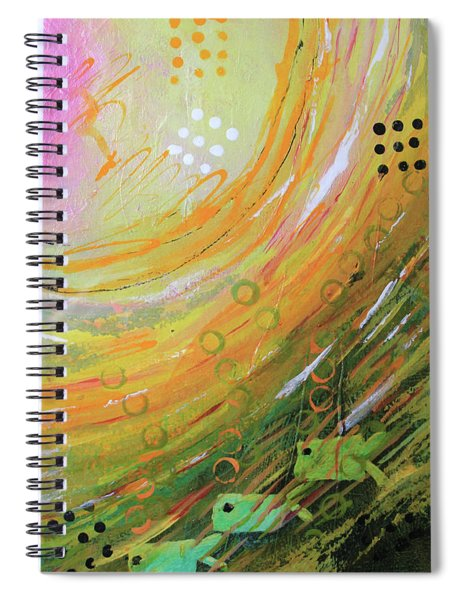 Fish In A Green Sea Spiral Notebook