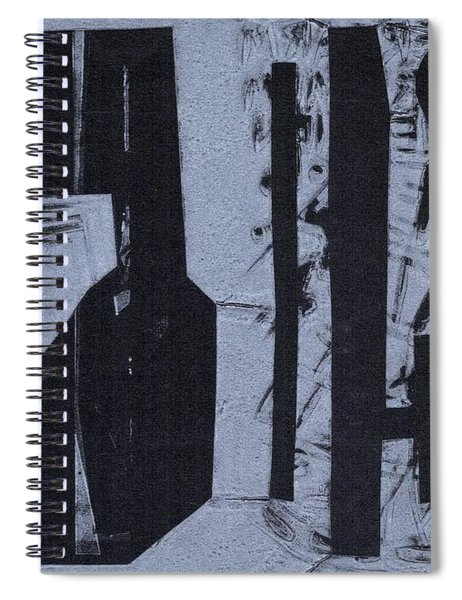 Fisher Covers Reverse White On Black Spiral Notebook