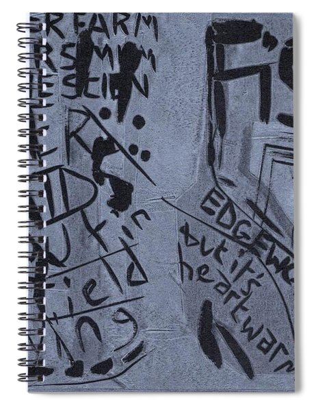 Fisher Covers Unmasked Spiral Notebook