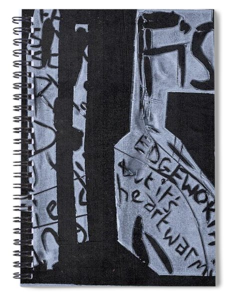 Fisher Covers White On Black Spiral Notebook
