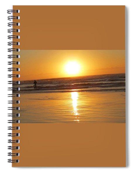 Fisherman At Sunrise Spiral Notebook