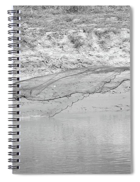 Fisherman On The Lower Ganges Spiral Notebook