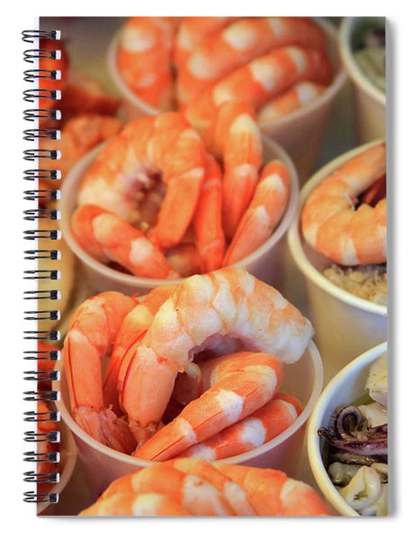 Fishermans Wharf Seafood Delights Spiral Notebook