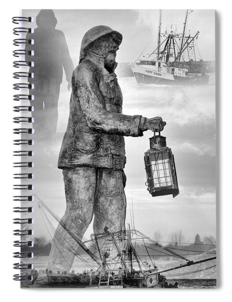 Fishermen - Jersey Shore Spiral Notebook