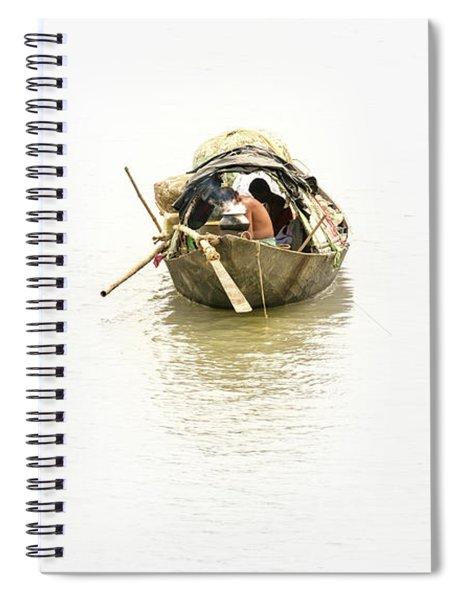 Fishermen On The Lower Ganges Spiral Notebook