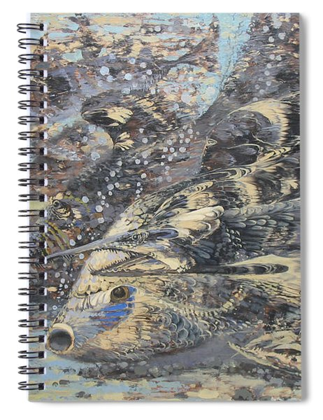 Fishes. Monotype Spiral Notebook