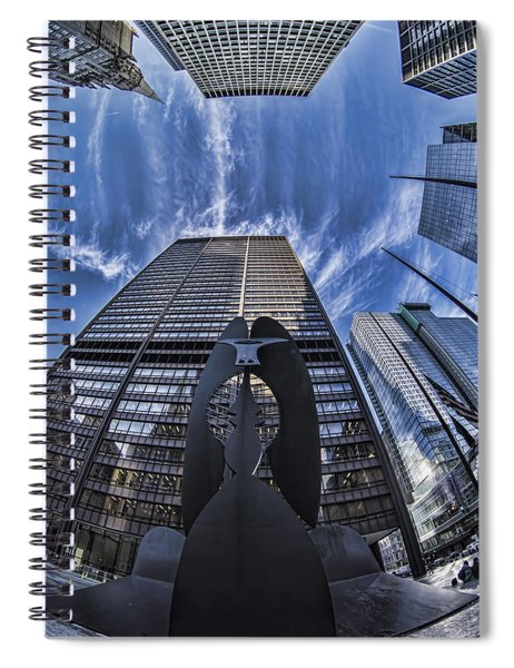 Fisheye View Of Chicago's Picasso Spiral Notebook