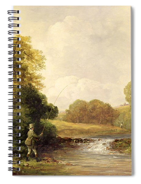 Fishing - Playing A Fish Spiral Notebook