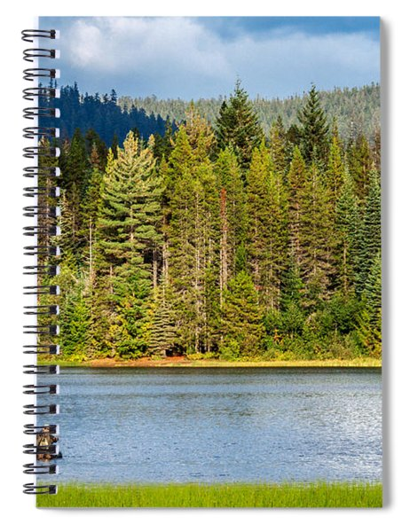 Fishing Alone Spiral Notebook