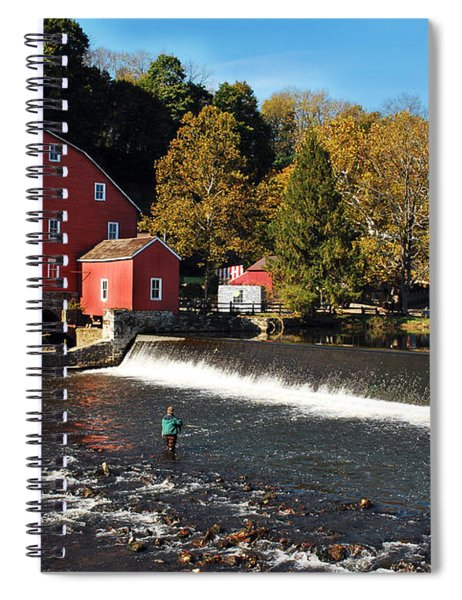 Fishing At The Old Mill Spiral Notebook