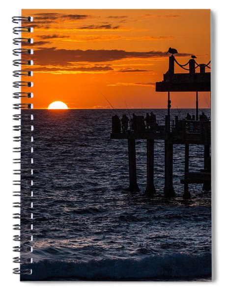 Fishing At Twilight Spiral Notebook