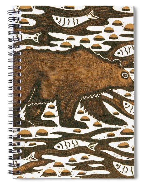 Fishing Bear Spiral Notebook