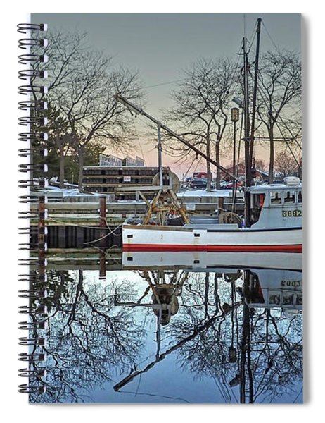 Fishing Boat At Newburyport Spiral Notebook