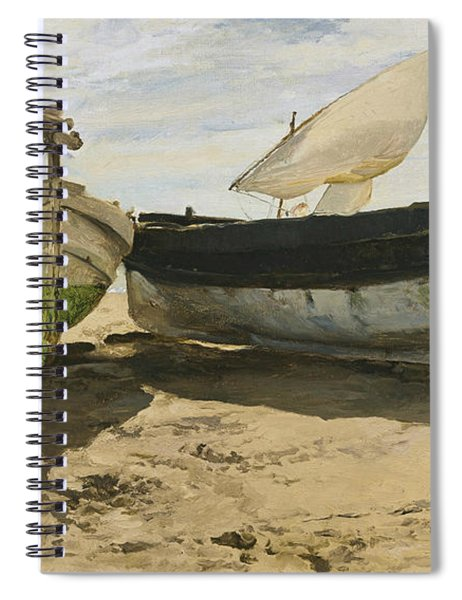 Fishing Boats On The Beach, Valencia Spiral Notebook