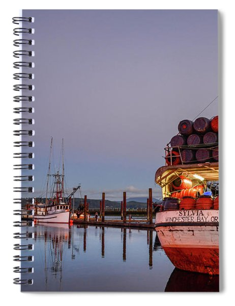 Fishing Boats Waking Up For The Day Spiral Notebook